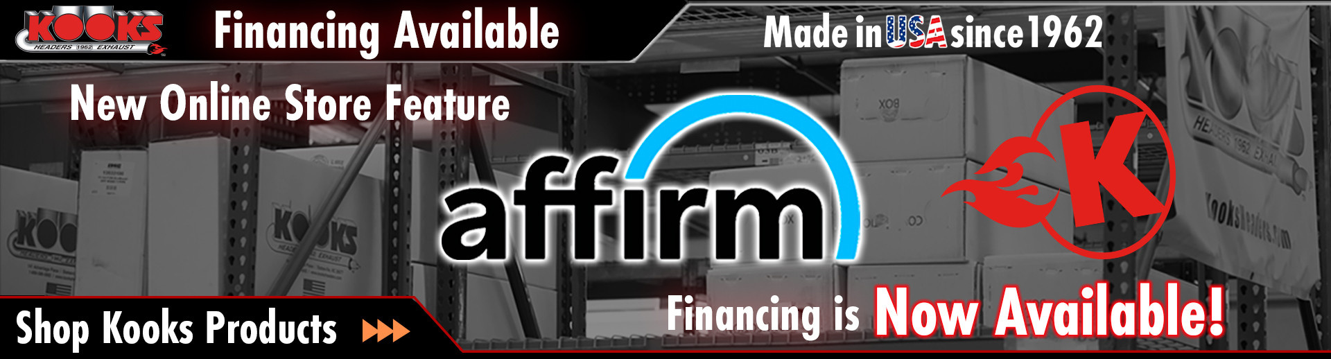 Affirm Financing Available