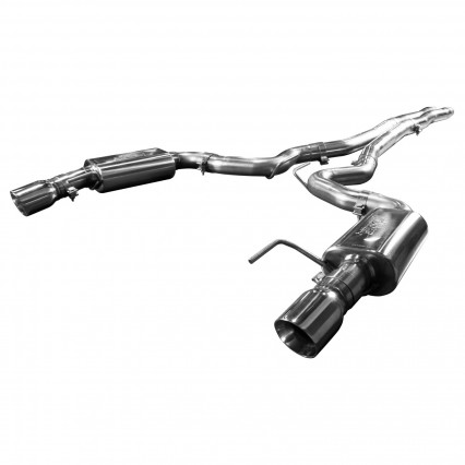 "3"" Cat-Back (X-Pipe) w/SS Tips. 2015-2017 Mustang GT 5.0L. Connects to OEM."