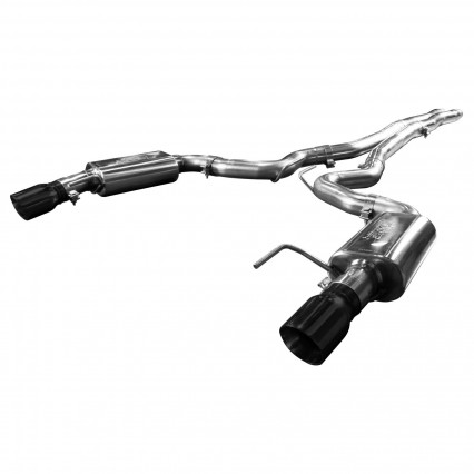 "3"" Cat-Back (X-Pipe) w/Black Tips. 2015-2017 Mustang GT 5.0L. Connects to OEM."
