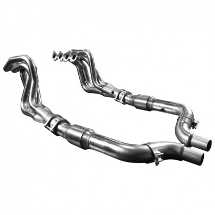 "2"" Stainless Headers & Catted Conn. Kit. 2015-2020 Mustang GT 5.0L."