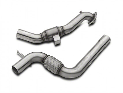 "3"" x 2-1/4"" SS Catted OEM Downpipe. 2015-2017 Mustang EcoBoost."