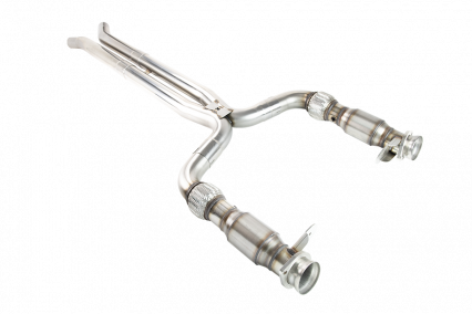 "3"" x 2-3/4"" SS Catted X-Pipe. 2015-2020 Shelby GT350. Retains OEM Mufflers."