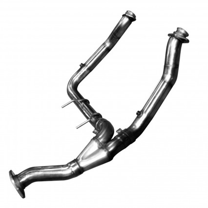 "3"" SS Non-Catted Turbo Down Y-Pipe. 2011-2014 F150 EcoBoost. Connects to OEM."