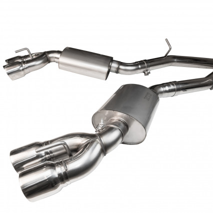 "3"" SS Non-Catted Header-Back Exhaust w/SS Quad Tips. 2016-2019 Camaro SS/ZL1."