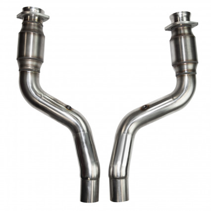 "3"" x 2-1/2"" SS Catted OEM Connection Pipes. 2005-2020 LX Platform Car 5.7L"
