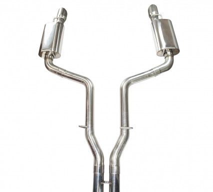 "3"" SS Race Exhaust. 2005-2010 LX Platform 6.1L. (Requires Full 3"" connections)"