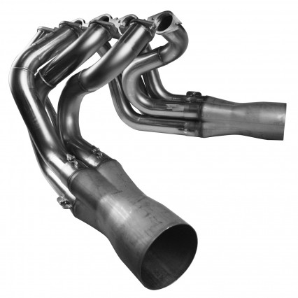 "2-1/8"" x 2-1/4"" x 4"" Stainless Steel Headers w/Venturi Collectors."