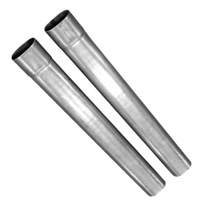 "3-1/2"" x 48"" Oval Mild Steel Tailpipe with Oval Slip Joint Inlet - No Taper."