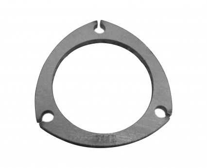 "3-1/2"" 3-Bolt Collector/Exhaust Flange. 5/16"" Thick Mild Steel."