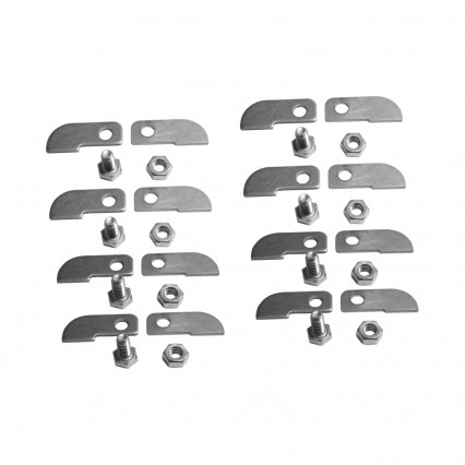 Universal A&B HeadersTabs STEEL - Includes 4) A-tabs, 4) B-Tabs, and hardware