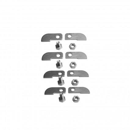 A&B Header Tabs(Set) - 304 SS - Includes 4) A Tabs, 4) B Tabs, & Hardware