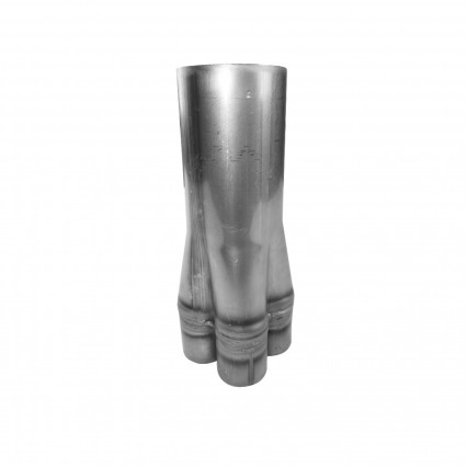 "2"" x 4"" 304 Stainless Steel Hand-Formed True Merge Collector"