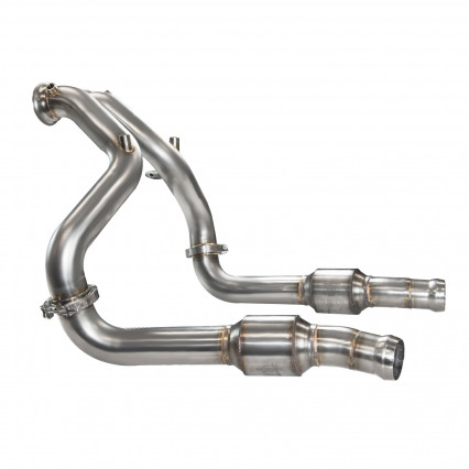 "3"" Stainless Steel Turbo Down Pipes with Ultra High Performance GREEN cats"