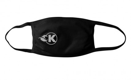 Kooks Facemask - Black with Silver K-Flame