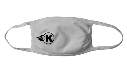 Kooks Facemask - Grey with Black K-Flame