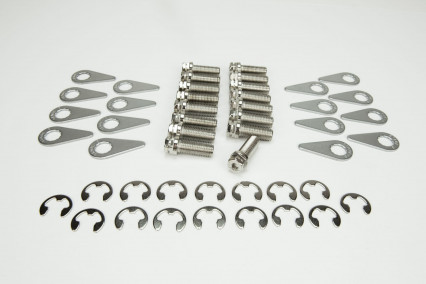 Stage 8 Header Bolt Kit - 16) M8 - 1.25 x 25mm Bolts and Locking Hardware.