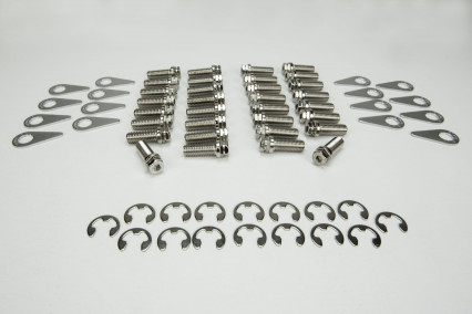Stage 8 Header Bolt Kit - Bolts in Both Thread Sizes and Locking Hardware.