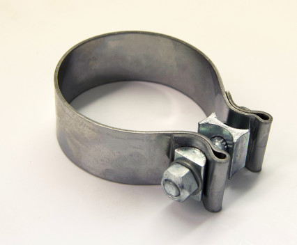 "2-3/4"" Stainless Steel Band Clamp for Notched Slip Joint Connections."