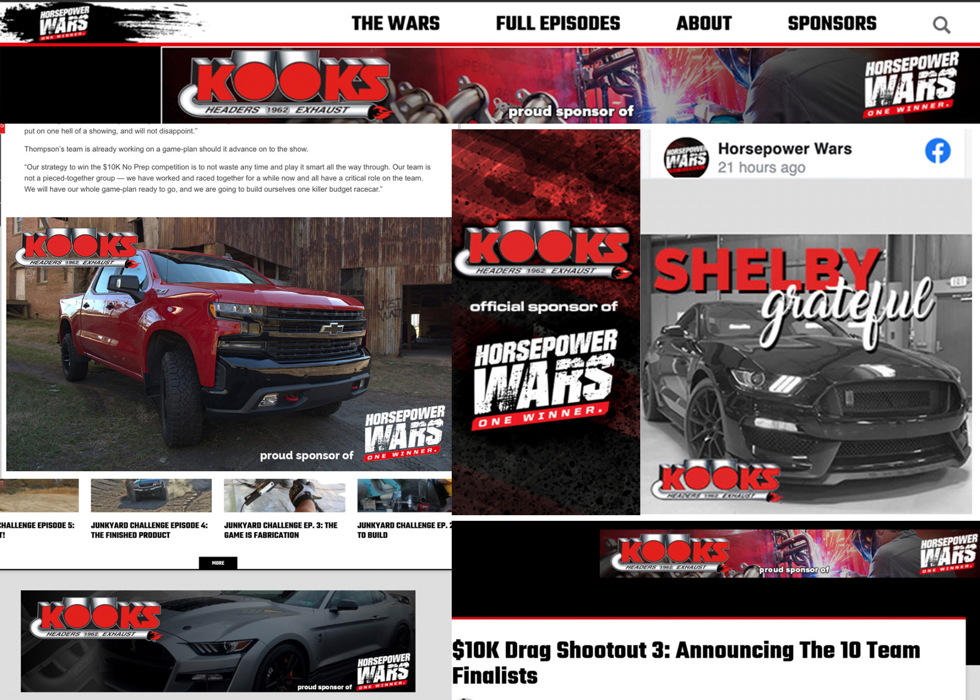 Kooks Headers and Exhaust Ads on Horsepower Wars